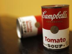 Cans of Campbell's soup photographed in New York.