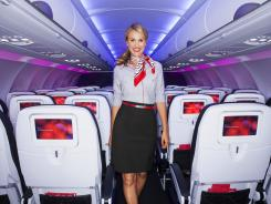 Virgin America is outfitting its attendants with new uniforms. If you like the look, you can get the airline-inspired clothing line at Banana Republic.