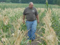 Craig Ganshorn, 62, a farmer confronting the confronting the worst drought in decades in Kosciusko County, Indiana.
