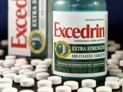 Over-the-counter Excedrin pain medication.