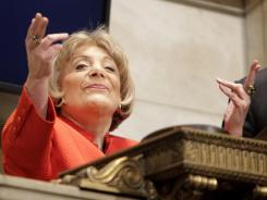 Evelyn Y. Davis rang the closing bell at the New York Stock Exchange in April 2009.