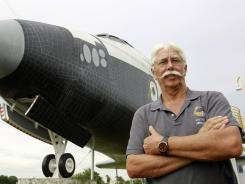 Former space shuttle worker Terry White, pictured at the Astronaut Hall of Fame in Titusville, Fla., was laid off after Atlantis landed.