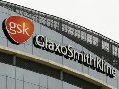 The GlaxoSmithKline offices stand erect in London in this April 2010, file photo.