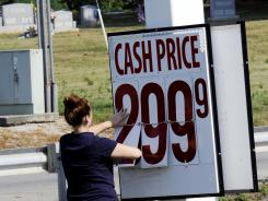 A gallon of unleaded gas could be purchased for less than $3 a gallon July 2, 2012 near Maysville, Ky.