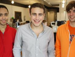 Left, Dan Getelman, Joe Cohen and Jim Grandpre, Lore's co-founders.
