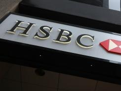 The HSBC logo on a branch in San Francisco.