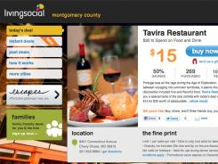 A frame grab from the Internet site LivingSocial.com for the Life COUPONS cover.