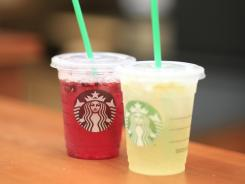 Starbucks Very Berry Hibiscus and Cool Lime Refreshers.