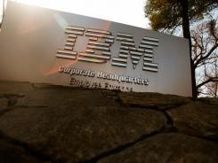 A sign leading to IBM's corporate headquarters in Armonk, N.Y.