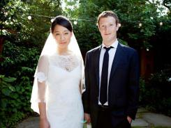 Facebook co-founder Mark Zuckerberg married Priscilla Chan at his home in Palo Alto, Calif., in May 2012.