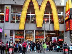A McDonald's restaurant in New York's Time Square.