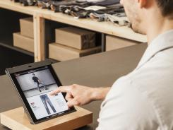 This weekend, J.C. Penney's new Levi's shops will have iPads for customers to use for online browsing and for salespeople to check out customers.