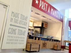 Good for you: Pret A Manger, a leading chain in Britain, sells food free of preservatives, antibiotic-free meats and vegan salads.