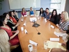 Talking business, talking kids: A roundtable of tech executives who are moms meet in San Francisco on Aug. 6.