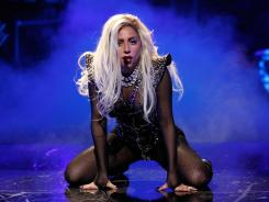 Lady Gaga performs at the iHeartRadio Music Festival at the MGM Grand Garden Arena Sept. 24, 2011 in Las Vegas.