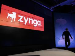 Zynga CEO Mark Pincus walks off the stage at Zynga headquarters in San Francisco, June 26, 2012.