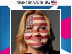 A Facebook Flag Tags app from Panasonic lets users superimpose a country flag on their face to show their support for a country during the Olympic games.