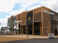 The newly constructed McDonald's at Olympic Park in London.