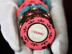 "Poker chips from the James Bond movie ""Casion Royale."""