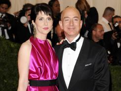 Amazon founder, president and CEO Jeff Bezos and wife Mackenzie Bezos are giving $2.5 million to defend Washington's same-sex marriage law.