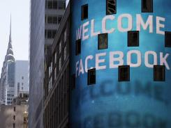 The Nasdaq MarketSite in New York's Times Square welcomes the Facebook IPO on May 18, 2012, its first day of trading.
