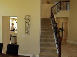 View of an open house in an affluent neighborhood of San Diego last month.