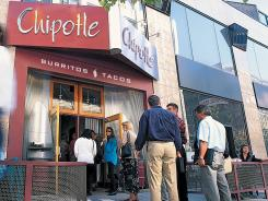 Chipotle shares are down 12% for the year.