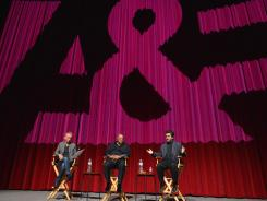 Moderator Nic Harcourt, composer Quincy Jones and director Joe Berlinger attend a screening of A&E Entertainment's 'Under African Skies' June 8, 2012 in Los Angeles.