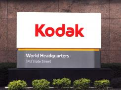 A sign identifies Eastman Kodak's corporate headqaurters in Rochester, N.Y.