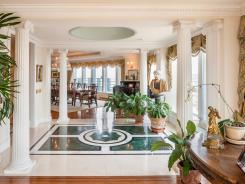 This photo provided by Prudential Douglas Elliman shows the interior of the 8,000-square-foot apartment for sale on West 56th Street in New York, priced at $100 million.