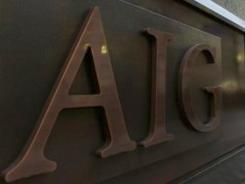 The AIG logo on a building in Tokyo in 2009.
