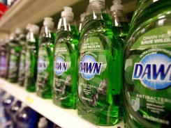 Dawn, a Procter & Gamble product, is displayed at Target in Durham, N.C.
