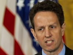 On March 17, 2009, Treasury Secretary Tim Geithner announced that insurance giant AIG would be required to reimburse the government for hefty executive bonuses in order to get more bailout money.