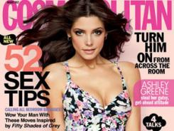 The August 2012 issue of Cosmopolitan magazine, the nation's single-copy best-seller, features Ashley Greene.
