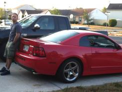 Involved in a lawsuit: Bobby Smith with his 2003 Ford SVT Mustang Cobra.