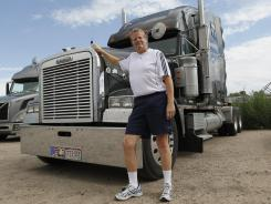 Rick Ash with his Freightliner truck in the Denver suburb of Commerce City.