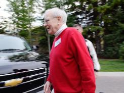Warren Buffett at the Allen &amp; Company Sun Valley Conference in Idaho on July 13.
