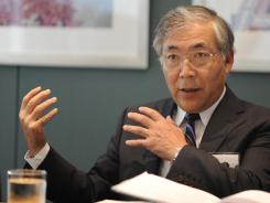 Tetsuo Iwamura, President of Honda North America, during a visit to USA TODAY.