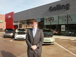 Michael Golling, 27, of Golling Fiat in Brimingham, Mich., is studio director of the family owned dealership.