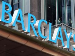 The headquarters of Barclays Bank in London's Canary Wharf section.