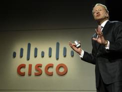 Cisco CEO John Chambers at the 2010 International Consumer Electronics Show in Las Vegas.