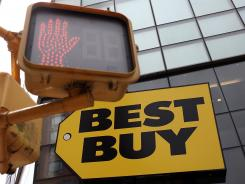 Best Buy shares are down almost 13% for the year.