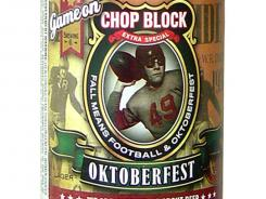 Chop Block Oktoberfest beer from Game On Brewing Company of Glendale, Wis., is 6% alcohol by volume.