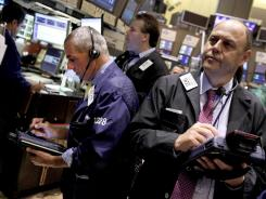 Traders on the floor of the New York Stock Exchange in August 2012.