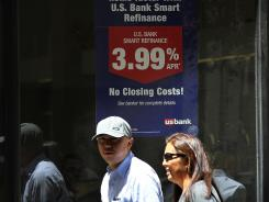Mortgage rates have come down since this photo was taken in June 2012.
