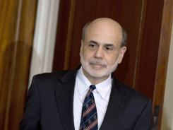 Ben Bernanke at Federal Reserve offices in Washington.