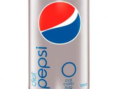 A Diet Pepsi soda can.