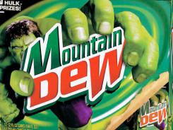 A 12-pack of Mountain Dew soda.