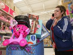 Jennifer Fergoso shops at a Toys R Us store in Fresno, Calif., in this file photo.