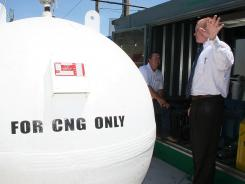 Scott Minton of Chesapeake Energy discusses how compressed natural gas is stored.